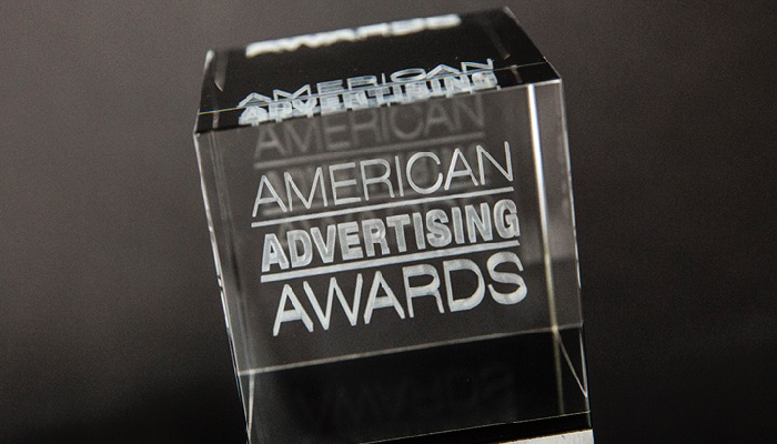 American Advertising Awards trophy.